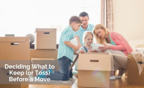 What to Keep or Toss Before Move